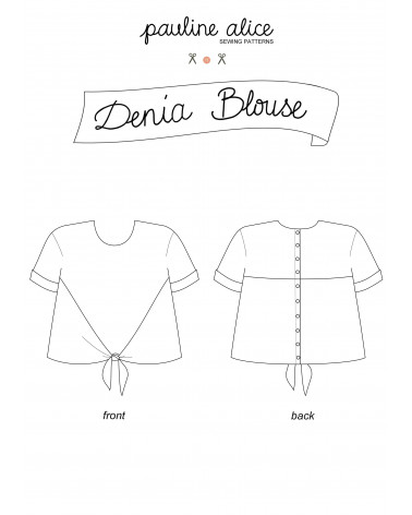blusa Denia PDF Pattern